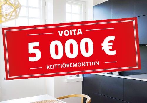 Voita 5000 € keittiöremonttiin!